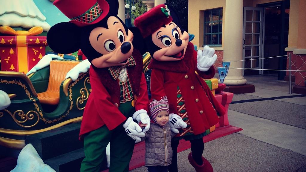 Foto con Minnie e Topolino