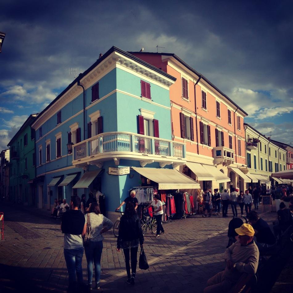 Cesenatico, case colorate