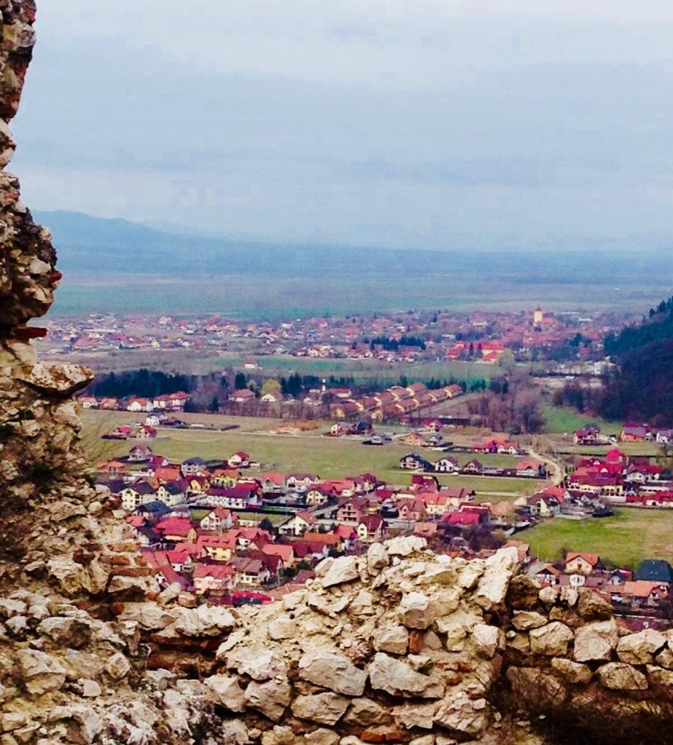 Veduta dal castello di Dracula